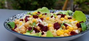 salade quinoa - pois chiches & betteraves