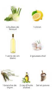 Ingrédients - fenouils braisés