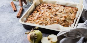 Tarte pommes et amandes au miel