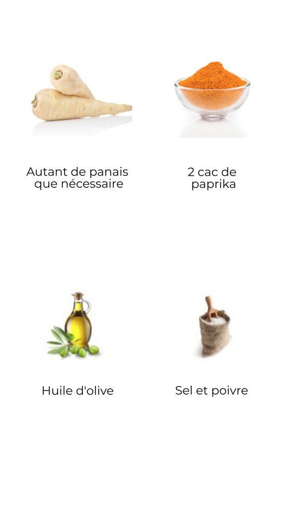Ingrédients - Frites de panais au paprika