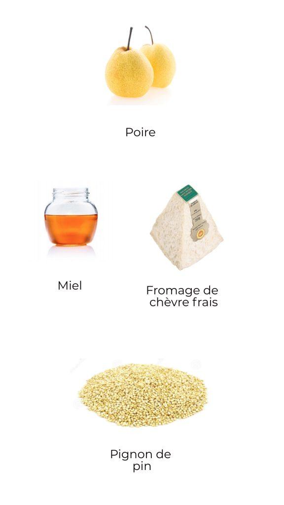 Ingrédients - Poire au miel et chèvre frais (1)