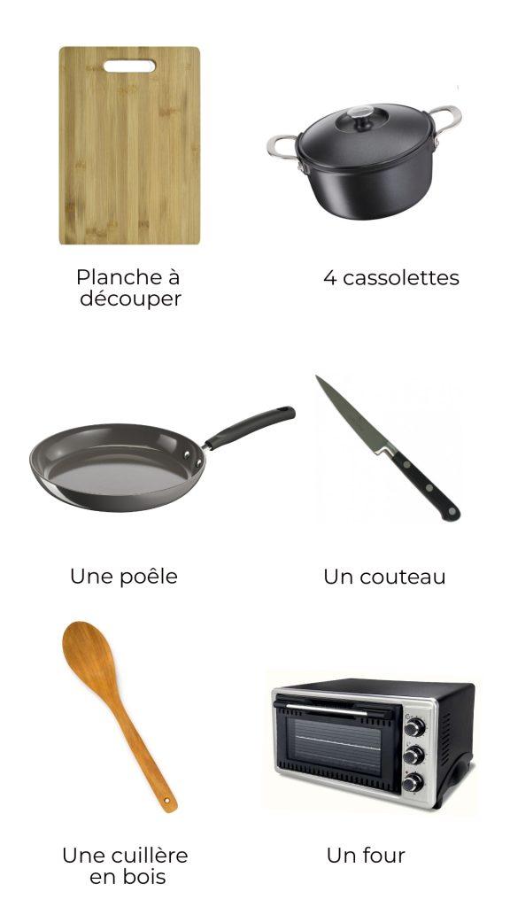 Ustensiles - Cassolette de poireau au parmesan