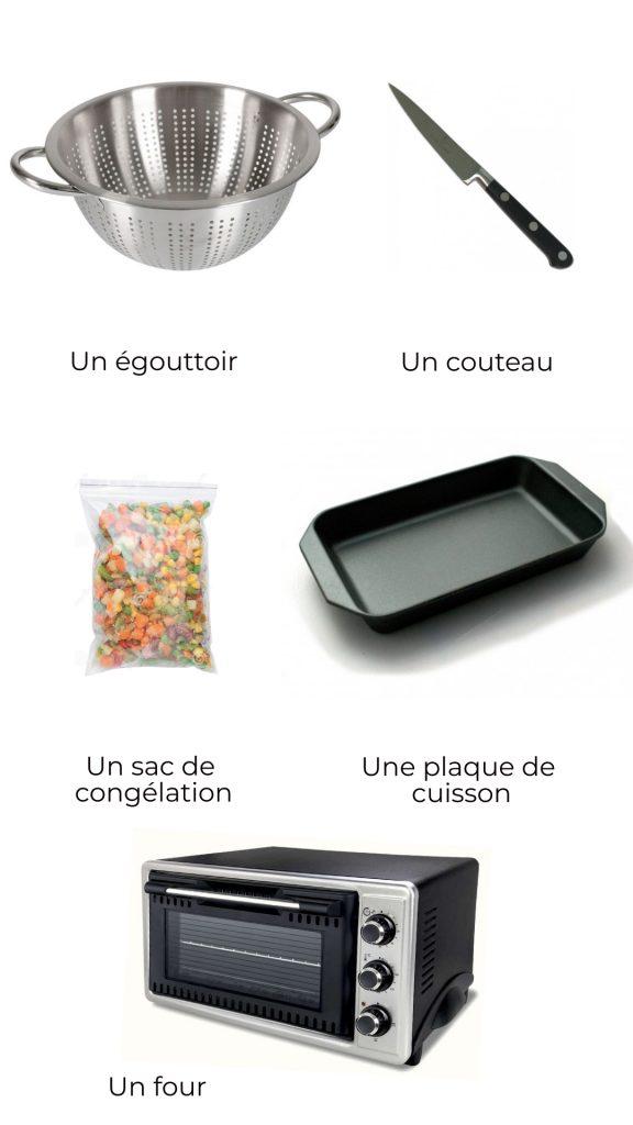 Ingrédients - chou-fleur rôti au curcuma