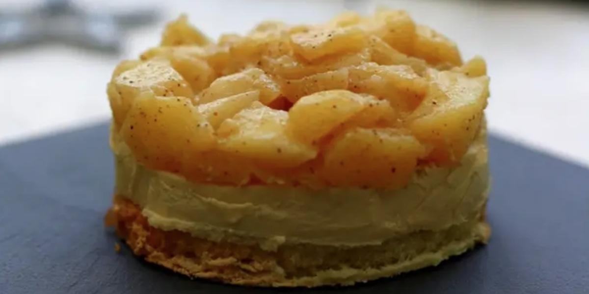 Toats de foie gras aux pommes, façon Tatin
