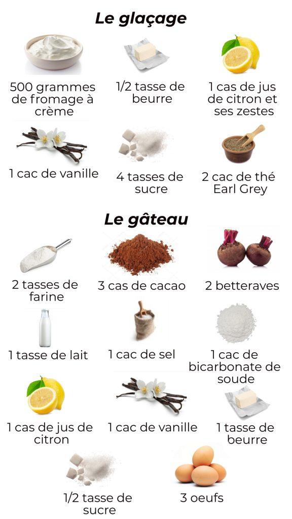 Ustensiles - Buche de Noel rouge (betterave et earl grey)