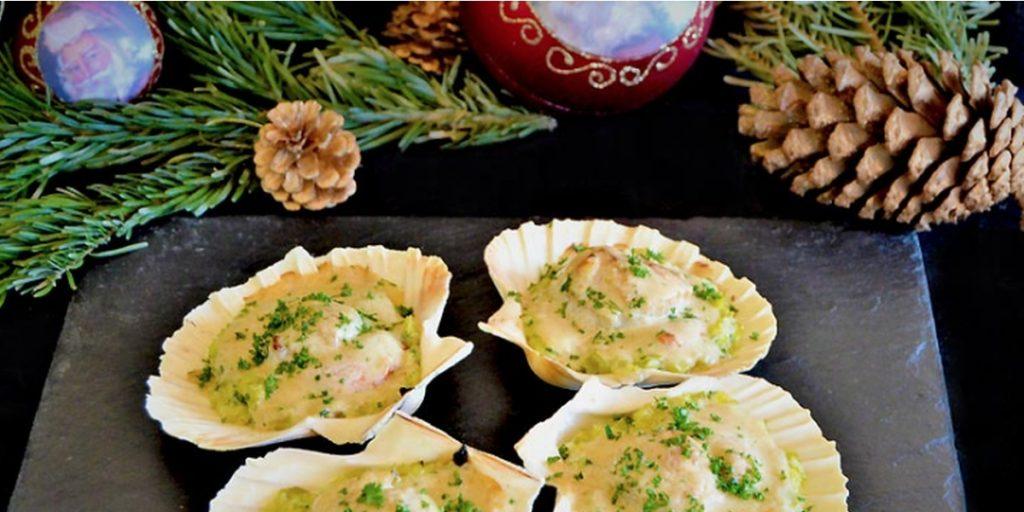Coquilles Saint-Jacques à la fondue de poireaux