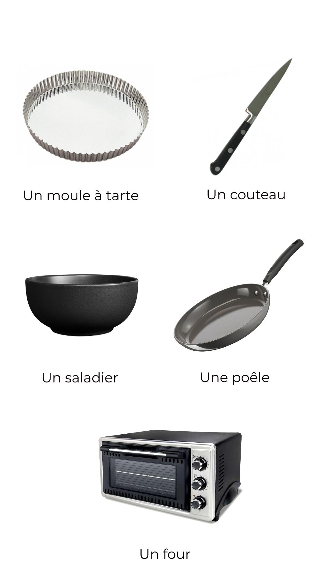 Ustensiles - Quiche aux poireaux, miel et curry