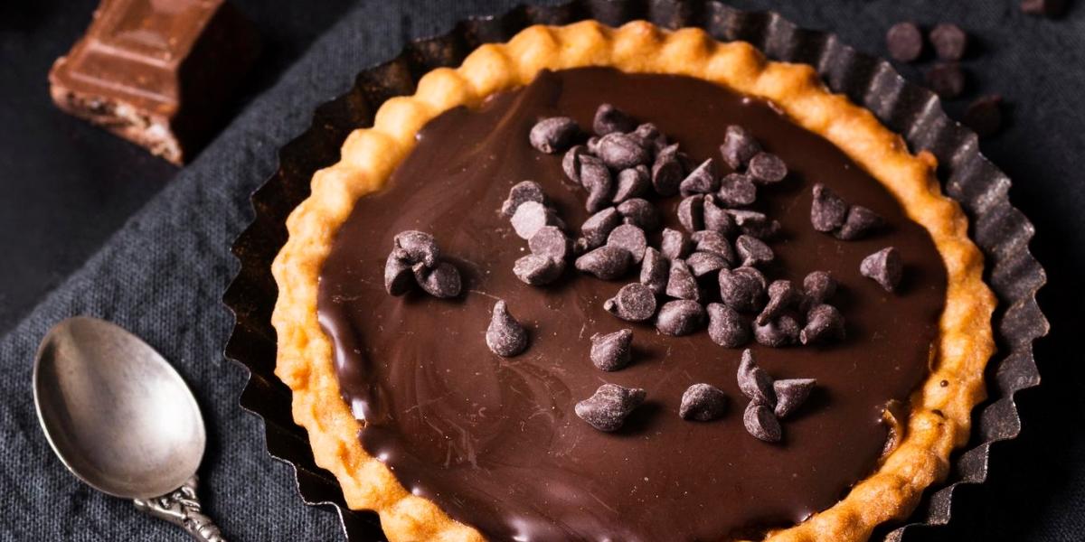Tartelette chocolat basilic
