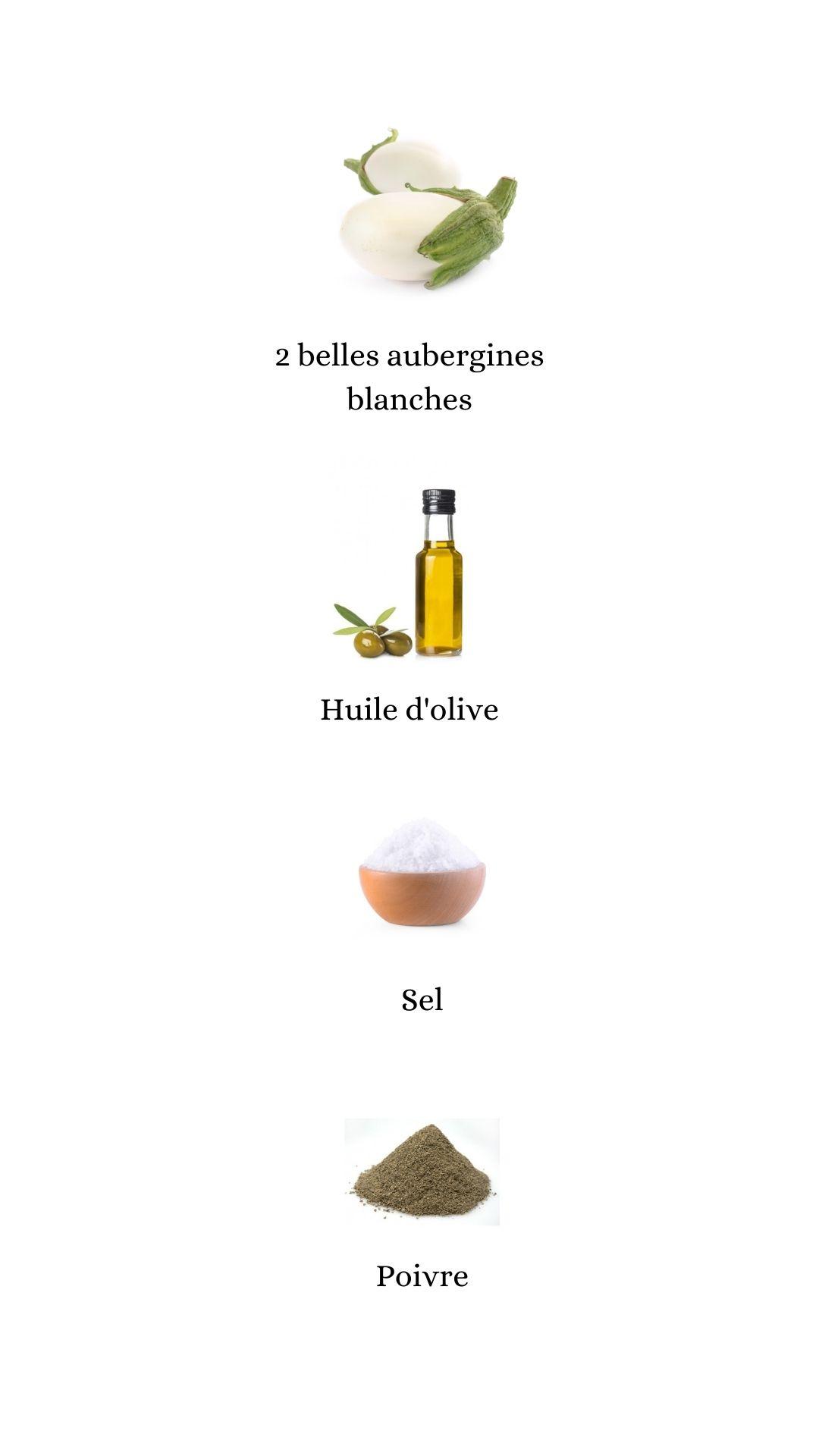 Constituant pour élaborer la recette des pavés d'aubergines blanches